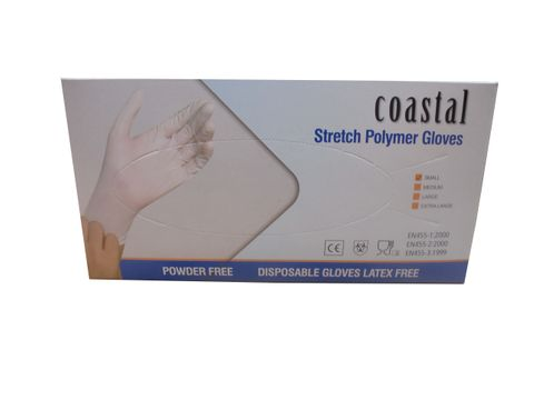 Gloves Stretch Polymer Powder Free Small