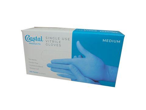 Gloves Blue Vitrile Medium - Box