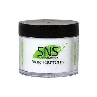 SNS FRENCH GLITTER F3 POWDER 2oz/56gm
