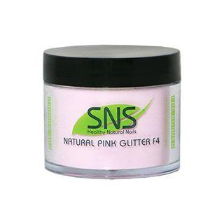 SNS NAT PINK GLITTER F4 POWDR 2oz/56g