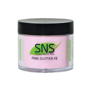 SNS NATURAL PINK GLITTER F2 POWDER 56gm
