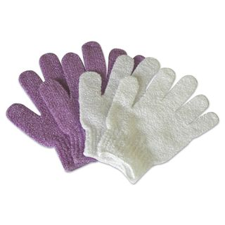**EXFOLIATING GLOVE - White 2 Pack