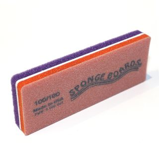 100/180 SPONGE BOARD BLOCK PURPLE & ORAN