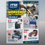 Worksop Tools & Machinery On Sale Promotional Flyer - April to June 2021 Sale Now On