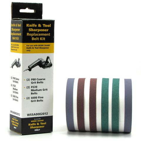 WORKSHARP REPLACEMENT BELT PACK, 6PCE ASSORTED, TO SUIT WSKTS
