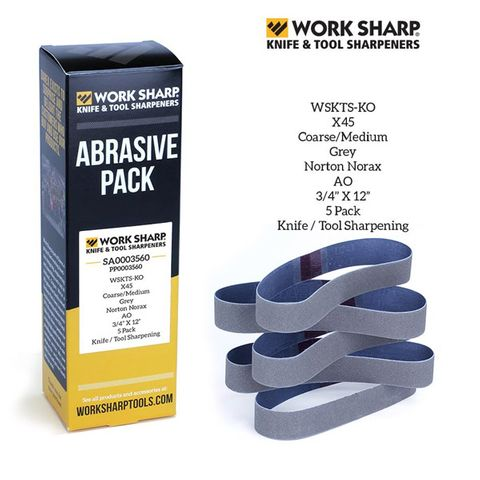 WORKSHARP REPLACEMENT BELT PACK, 5PCE X45 CERAMIC, SHARPENING, T/S WSKTS-KO