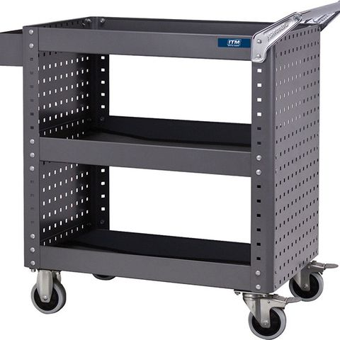 ITM TOOL CART, 3 SHELF WITH SIDE PANELS, 873 W X 500 D X 880 H