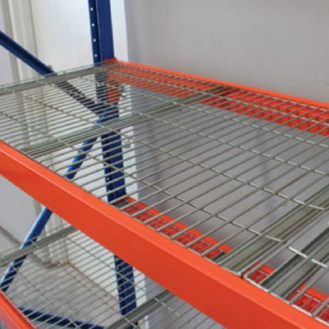 ITM WORKSHOP SHELVING RACK, 1800MM X 2200MM, WITH 4 WIRE SHELVES