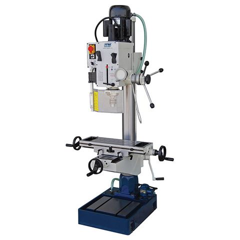 ITM GEARED HEAD MILL DRILL WITH COOLANT, 4MT, 240V SINGLE PHASE