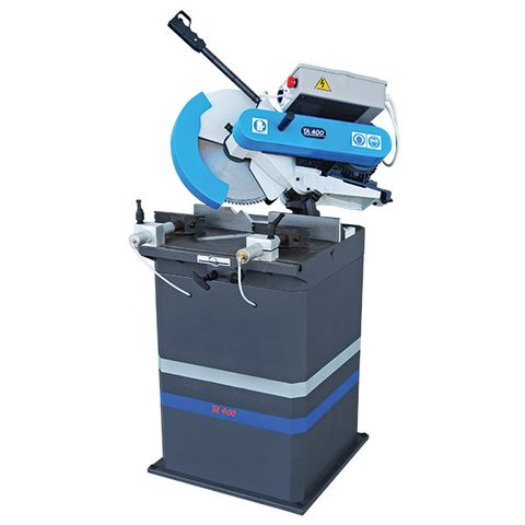 MACC 400MM 3PH 3,000RPM NON FERROUS CUTTING SAW ON STAND  WITH PNEUMATIC VICE & COOLANT SPRAY