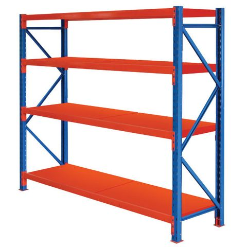 ITM WORKSHOP SHELVING RACK, 1800MM X 1400MM, WITH 4 STEEL SHELVES