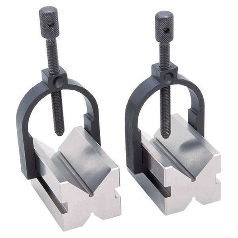 VB/T/35 GROZ TOOL MAKERS VEE BLOCK & CLAMP SET, 50 x 37 x 37MM, 32MM CAP.