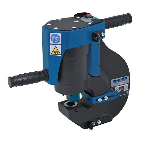 HOLEMAKER DOUBLE ACTION HYDRAULIC PUNCH, 35 TON, 27MM DIAMETER X 13MM THICK CAP, 60MM THROAT
