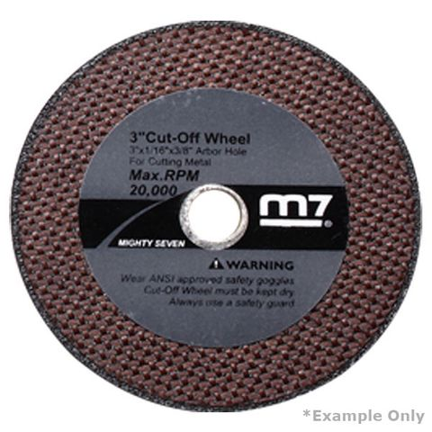 M7 CUT OFF WHEEL, 100 X 1.6 X 9.53MM TO SUIT QC234