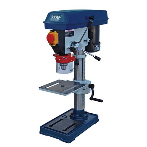 ITM PEDESTAL BENCH DRILL PRESS, 13MM CAP, 5 SPEED, 260MM SWING, 375W 240V