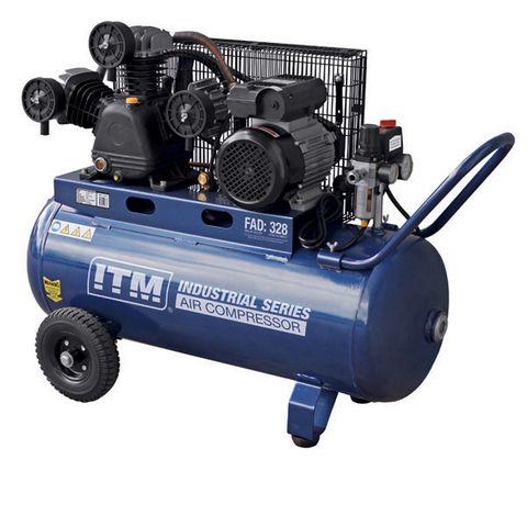 ITM AIR COMPRESSOR, BELT DRIVE, 3.0HP 90LTR FAD 328L/MIN