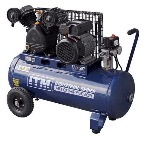 ITM AIR COMPRESSOR, BELT DRIVE, 2.5HP 60LTR FAD 257L/MIN