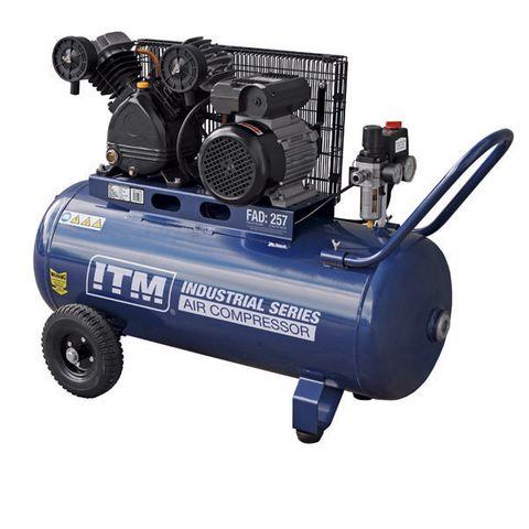 ITM AIR COMPRESSOR, BELT DRIVE, 2.5HP 90LTR FAD 257L/MIN