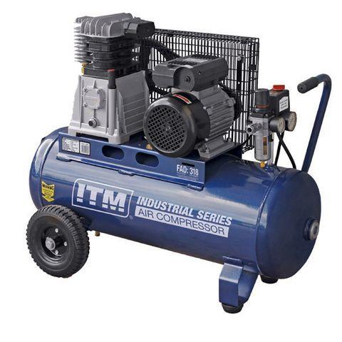 ITM AIR COMPRESSOR, BELT DRIVE, 3.0HP 50LTR FAD 318L/MIN