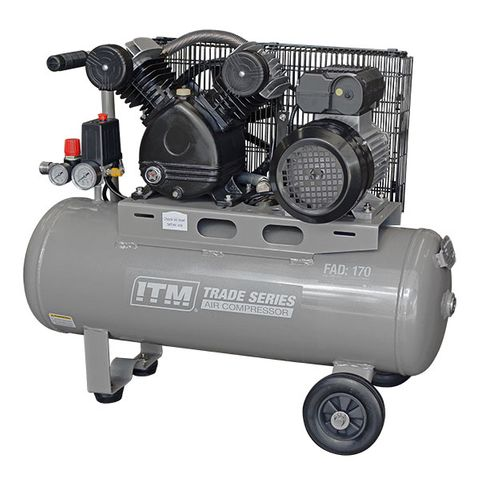 ITM TRADE SERIES AIR COMPRESSOR, BELT DRIVE, 2.2HP 50LTR FAD 170L/MIN