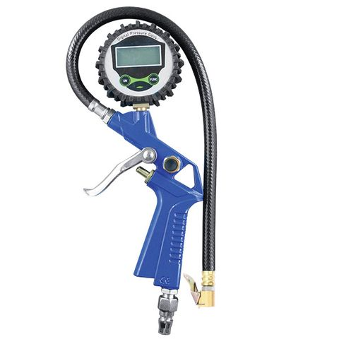 ITM DIGITAL TYRE INFLATOR, 40CM HOSE, DISPLAY IN BAR,PSI,KPA OR KG/CM²