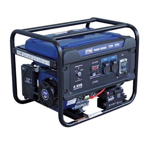 ITM 4KVA GENERATOR PETROL, 3400 WATT PEAK ELECTRIC START