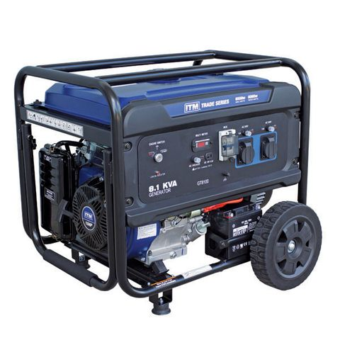 ITM 8.1KVA GENERATOR PETROL, 6500 WATT PEAK ELECTRIC START
