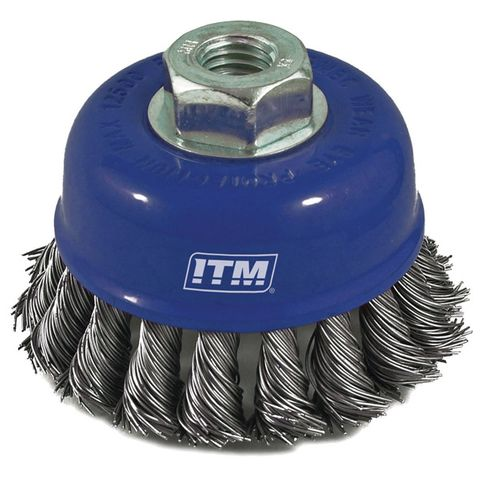 STEEL TWIST KNOT CUP WIRE BRUSH