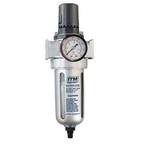 "ITM 1/2"" FILTER REGULATOR HEAVY DUTY AUTO DRAIN"