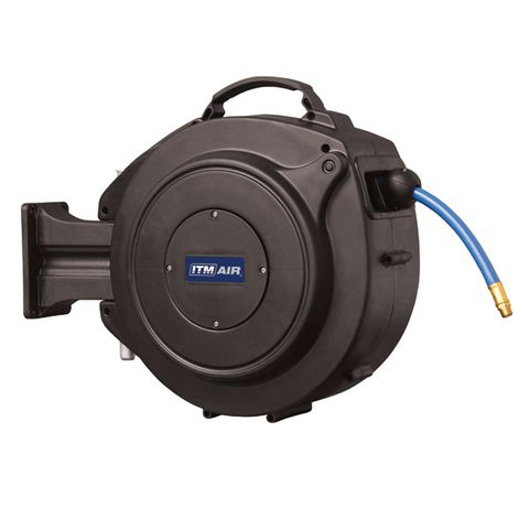 "ITM RETRACTABLE AIR HOSE REEL, 10MM X 15M PVC AIR HOSE WITH 1/4"" BSP MALE FITTINGS"