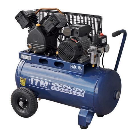 ITM AIR COMPRESSOR, BELT DRIVE, 2.2HP 50LTR CONSTRUCTION FAD 185L/MIN