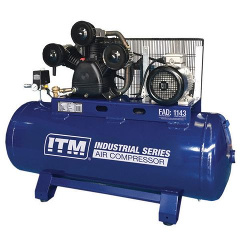 ITM AIR COMPRESSOR, BELT DRIVE STATIONARY 3 PHASE, 10HP, 270LTR, FAD 1143 L/MIN