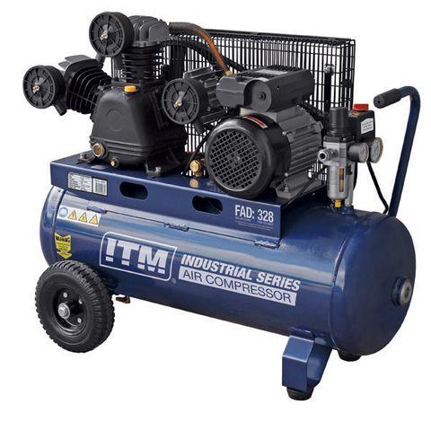 ITM AIR COMPRESSOR, BELT DRIVE, 3.0HP 60LTR FAD 328L/MIN