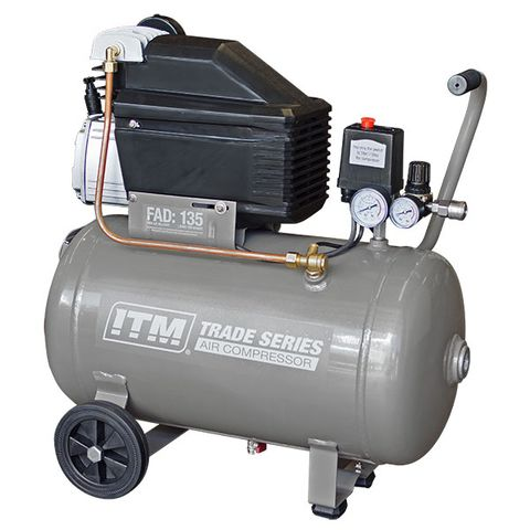 ITM TRADE SERIES AIR COMPRESSOR, DIRECT DRIVE, 2.5HP 36LTR FAD 135L/MIN