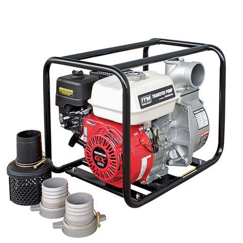 ITM WATER TRANSFER PUMP HIGH VOLUME PETROL 5.5HP GX160 HONDA 80MM 60,000 L/H