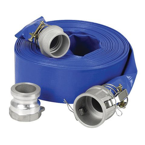 WATER TRANSFER HOSE LAY FLAT 50MM X 20MTR WITH CAM LOCK FITTINGS