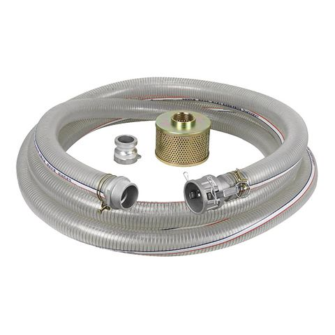 WATER TRANSFER SUCTION HOSE 50MM X 7MTR WITH CAM LOCK FITTING & FILTER