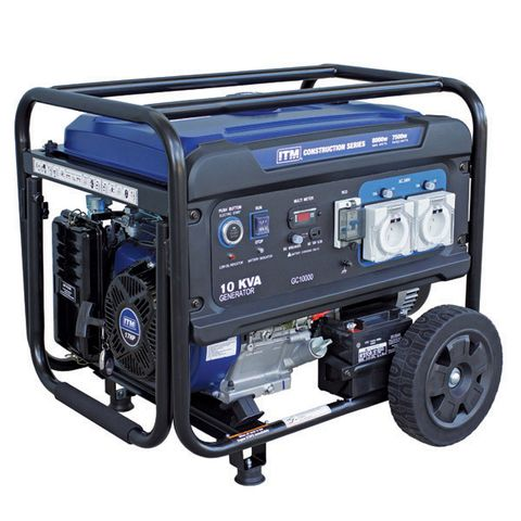 ITM 10KVA GENERATOR PETROL CONSTRUCTION, 8000 WATT PEAK ELECTRIC START W/REMOTE