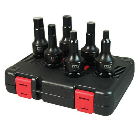 "M7 6 PCS 3/4"" IMPACT SOCKET SET IN HEX 12,14,17,19,22,24MM"