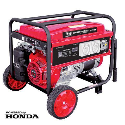 ITM 7.5KVA GENERATOR PETROL 6000 WATT PEAK WITH HONDA GX390 ENGINE