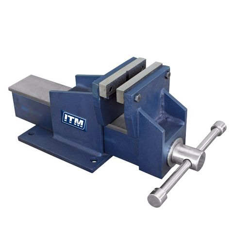 FABRICATED STEEL BENCH VICES, STRAIGHT JAW