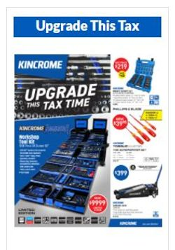Kincrome Upgrade this Tax Time Flyer
