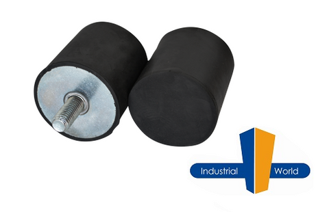 Cylindrical Rubber Mount 20mm x 25mm Male-Buffer