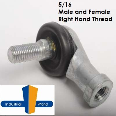 STUDDED 5/16 ROD END  FEMALE/MALE