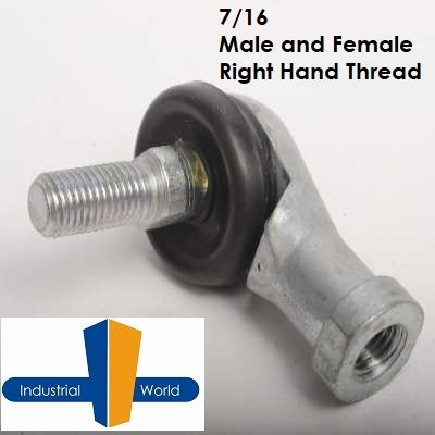 STUDDED 7/16 ROD END  FEMALE/MALE