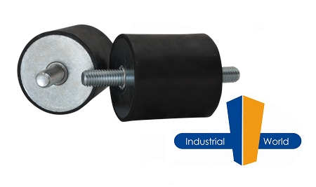 Cylindrical Rubber Mount 13mm x 13mm Male-Male