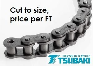 TSUBAKI ROLLER CHAIN 5/8 - 50H -1 ROW -PER FT CUT