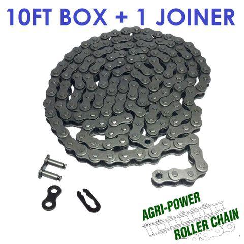 AGRI-POWER ROLLER CHAIN - 80H - 1 ROW 10FT BOX