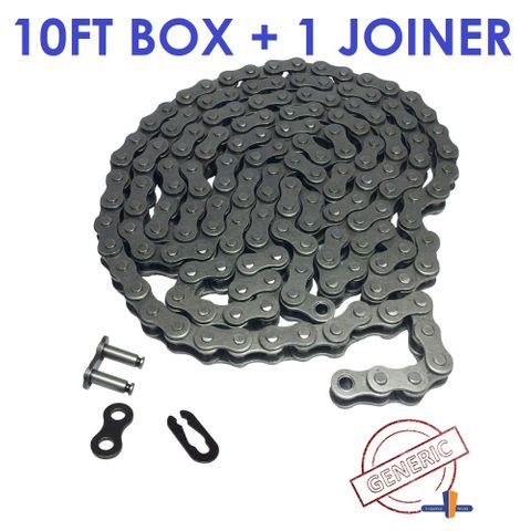 GENERIC ROLLER CHAIN 1/4- 25 -1 ROW -10FT BOX