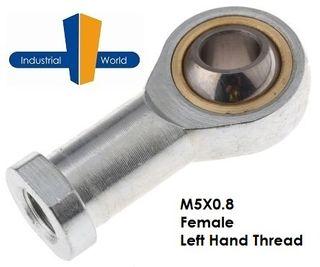 FEMALE METRIC LEFT HAND ROD END M5X0.8
